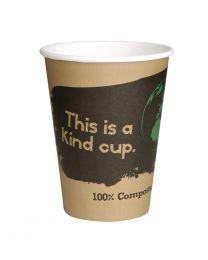 Fiesta Green composteerbare koffiebekers enkelwandig bruin 23cl (1000 stuks)