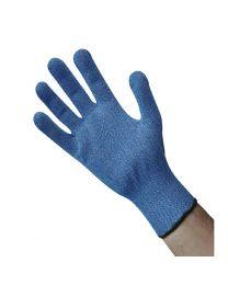 Blauwe snijbestendige handschoen M