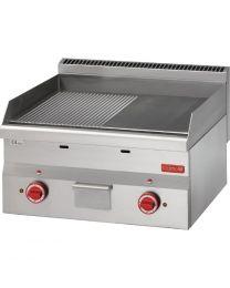 Gastro M 600 elektrische bakplaat 1/2 glad1/2 geribbeld 60/60 FTRE