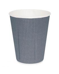 Fiesta koffiebekers ribbelwand blauwgrijs 225ml (25 stuks)