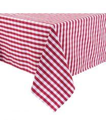 Mitre Comfort Gingham tafelkleed rood-wit 178x178cm