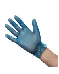 Vogue vinyl handschoenen blauw gepoederd L