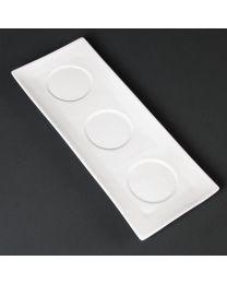Lumina platte schaal met 3 vakjes 30,5x12cm