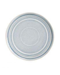 Olympia Cavolo plat rond bord ijsblauw 22cm