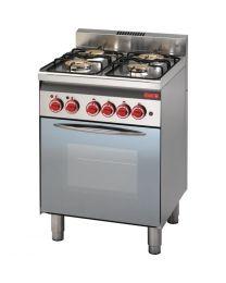 Gastro M 600 gasfornuis met elektrische heteluchtoven 60/60CFGE