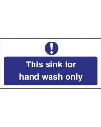 Vogue 'Hand wash only' bord