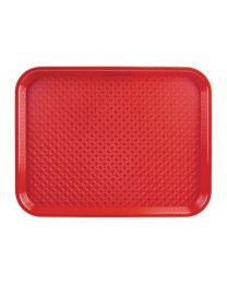 Kristallon dienblad plastic 305x415mm rood
