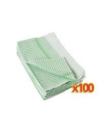 BULKVOORDEEL x100 Wonderdry theedoeken groen